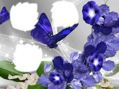 jolies fleurs et papillon