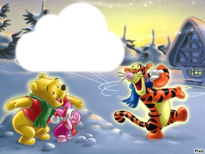 Winnie l'ourson neige
