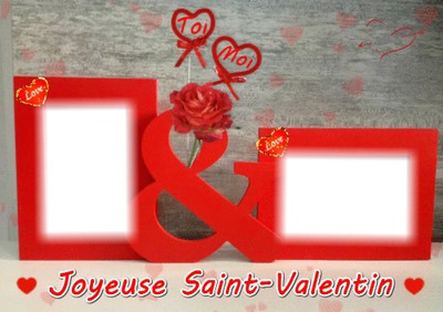 2 photos st valentin love amour iena