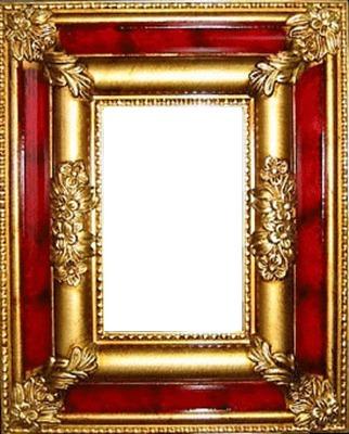 cadre rouge et or