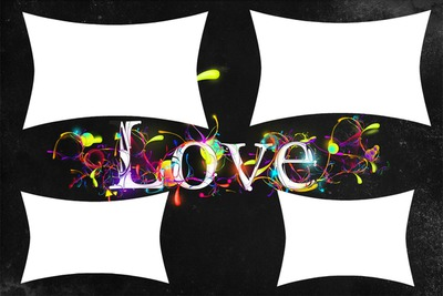 4 cadres + Love au centre