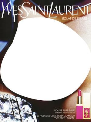 Yves Saint Laurent Rouge Pure Shine Lipstick Advertising