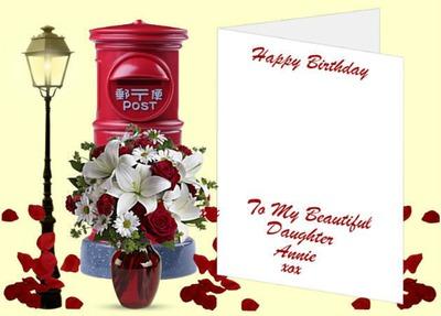 Photo montage happy birthday daughter - Pixiz