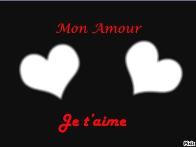 Montaje Fotografico Mon Amour Je Taime Pixiz