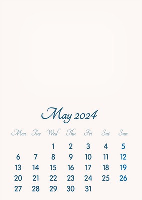 May 2024 // 2019 to 2046 // VIP Calendar // Basic Color // English
