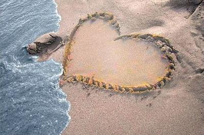 Coeur sur le sable
