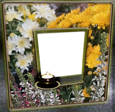 Andrea51 /My own flower and my photo. Creative picture frame Andrea51 work. In memory of my mother.❤/