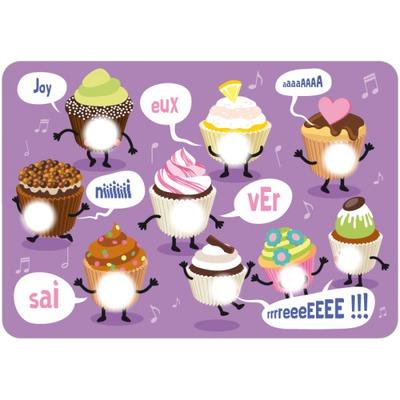 Photo montage Joyeux anniversaire cupcake   Pixiz