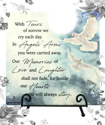 with tears of sorrow