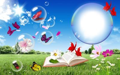 Le printemps bulles papillons