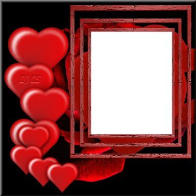 Dj CS Love frame Hearts