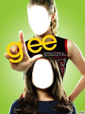 Glee Visage fille Rachel et Quinn