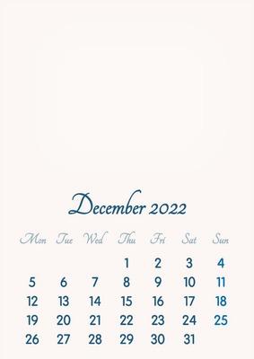 December 2022 // 2019 to 2046 // VIP Calendar // Basic Color // English