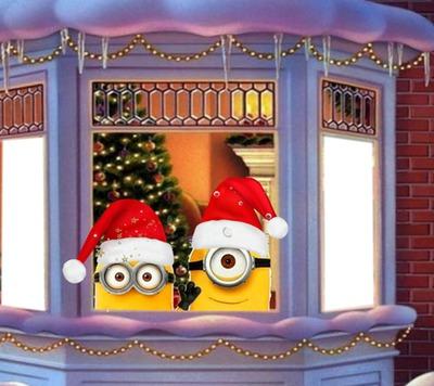 Frohe Weihnachten Minions.Fotomontage Rp Minions Weihnachten Pixiz