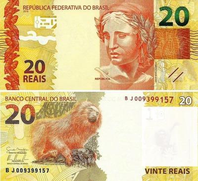 dinheiro do Brasil - 20 reais