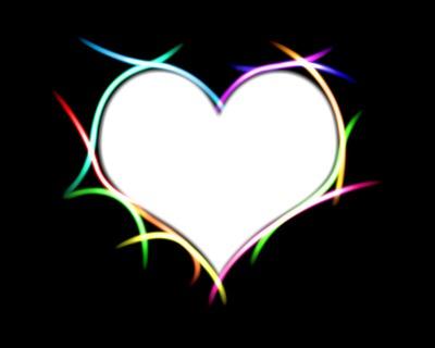 magnifique coeur néon