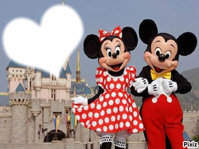 Montage photo mickey minnie pixiz - Photo minnie et mickey bebe ...