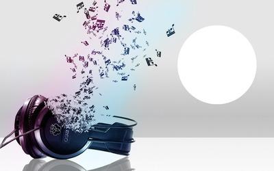casque et notes de musique