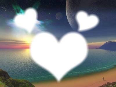 Coucher de Soleil ; Coeur