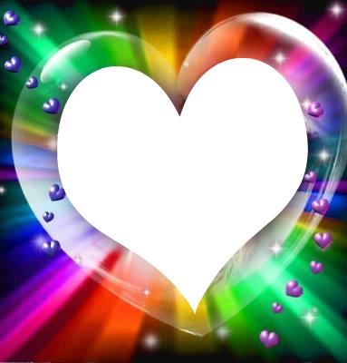 un coeur avec pleins de p'tits 1 photo