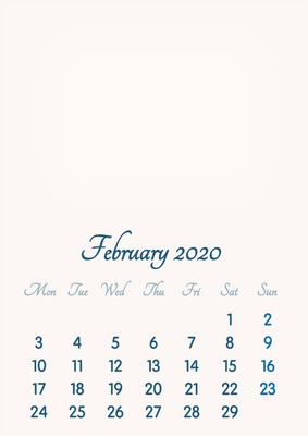 February 2020 Calendar That You Can Color Photo montage February 2020 // 2019 to 2046 // VIP Calendar