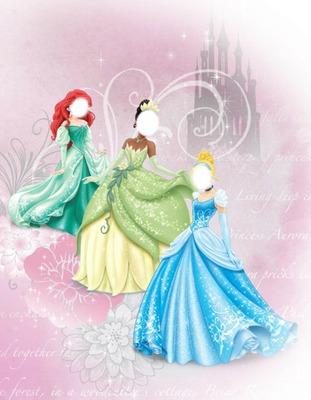 Ariel, Tiana and Cinderella (Disney princess)
