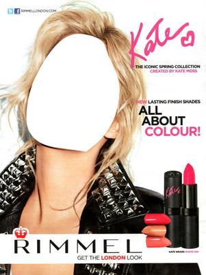 Rimmel Kate Moss Lipstick Advertising