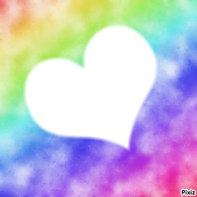 Coeur multicolore
