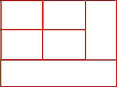 cadre rouge pour 6 photos