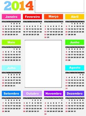 Calendario 2014 português 2 fotos