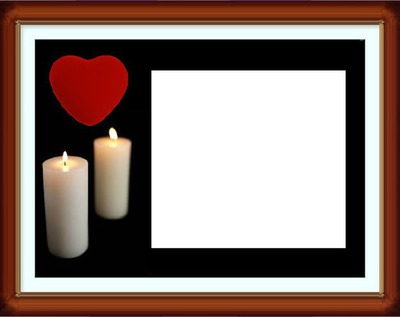 Candle love heart frame 2