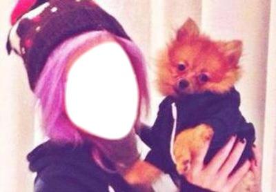 fille est son chien cute