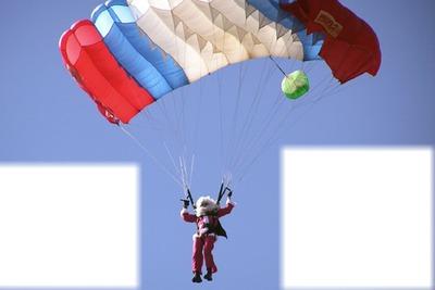 papa noël ♥ en parachute mdr