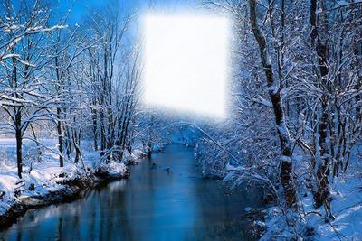 Paysage hiver sous la neige