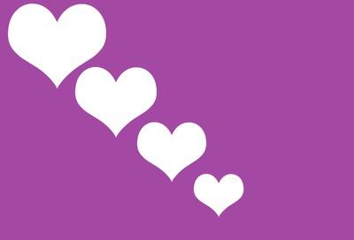 les coeurs coeurs coeurs (x4)