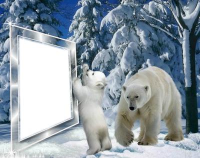Cadre Noel blanc*