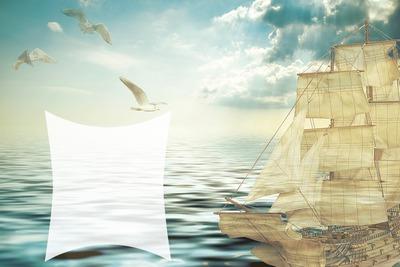 Voilier - bateau - mer