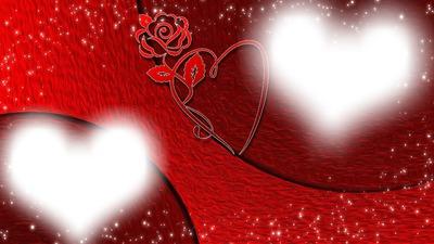 фон 2 сердца