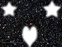 2 étoiles au monde crée un joli coeur <3
