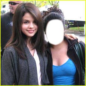 Selena Gomez with a fan