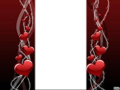 coeur rouge cadre