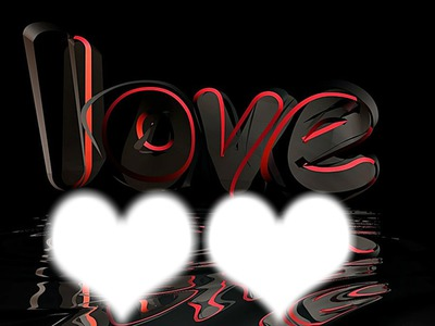 3d Love text, red hearts and rose on white background Stock Photo ... | 300x400