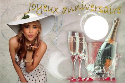 Photo Montage Joyeux Anniversaire Champagne Pixiz