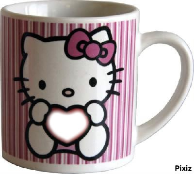 hello-kitty +tasse