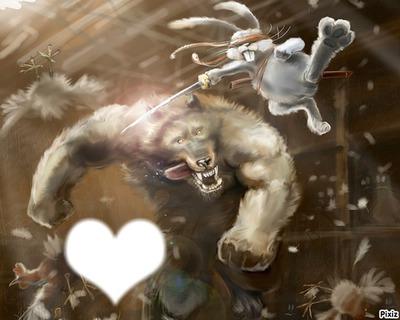 le lapin blanc vs le loup garou