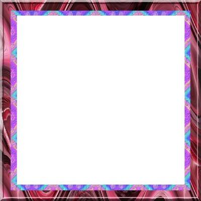 cadre carré multicolore