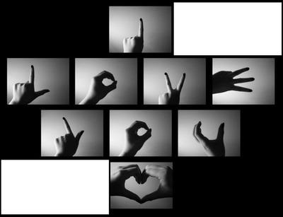 I love You en langue des Signes