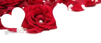 Fotomontaggio 2 Coeur Fleur Rouge Pixiz