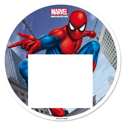 Photo montage spiderman circular - Pixiz