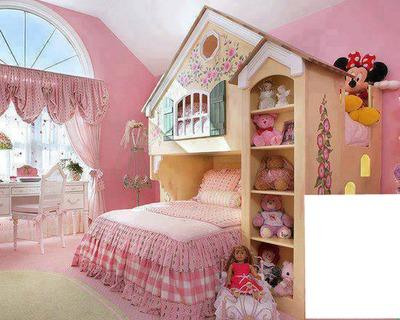 Fotomontage chambre petite fille sage - Pixiz